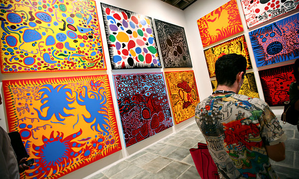 Kusama's retrospective exhibition at the Whitney, NYC